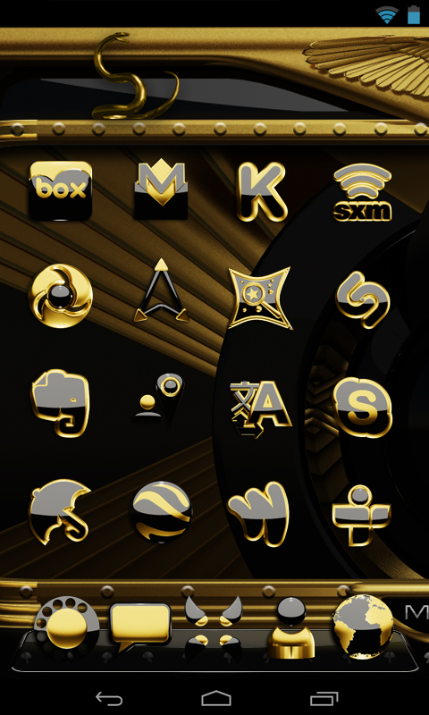 Android Gold Snake Clock widget Screen 5