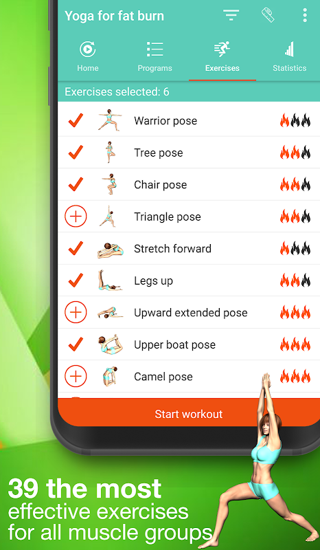 Android Yoga for weight loss -lose weight programat home Screen 3