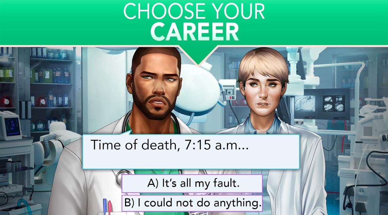 Android Is it Love? Blue Swan Hospital - Choose your story Screen 3