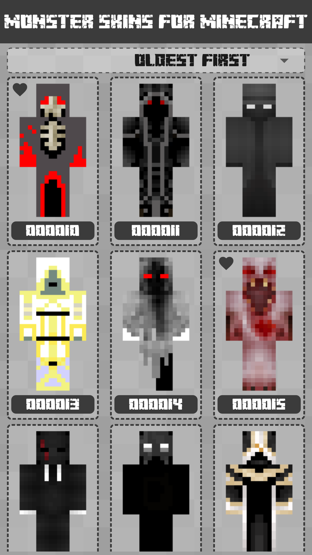 Android Monster Skins for Minecraft PE Screen 1
