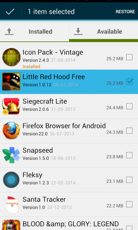 Aptoide Backup Apps 2.3.1 Screen 4