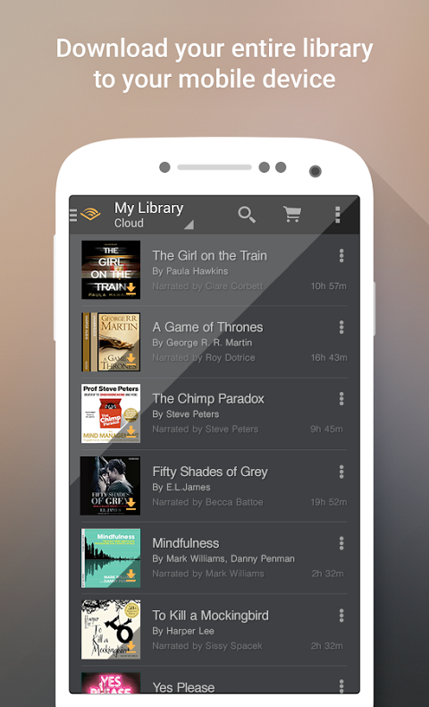 Android Audiobooks from Audible Screen 2