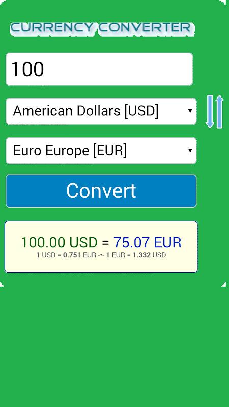Android Conversor Monedas Screen 3