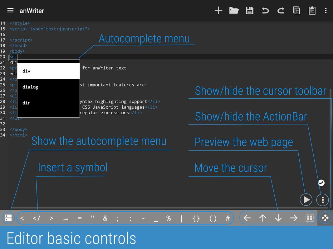 anWriter text editor 1.6.1 Screen 8