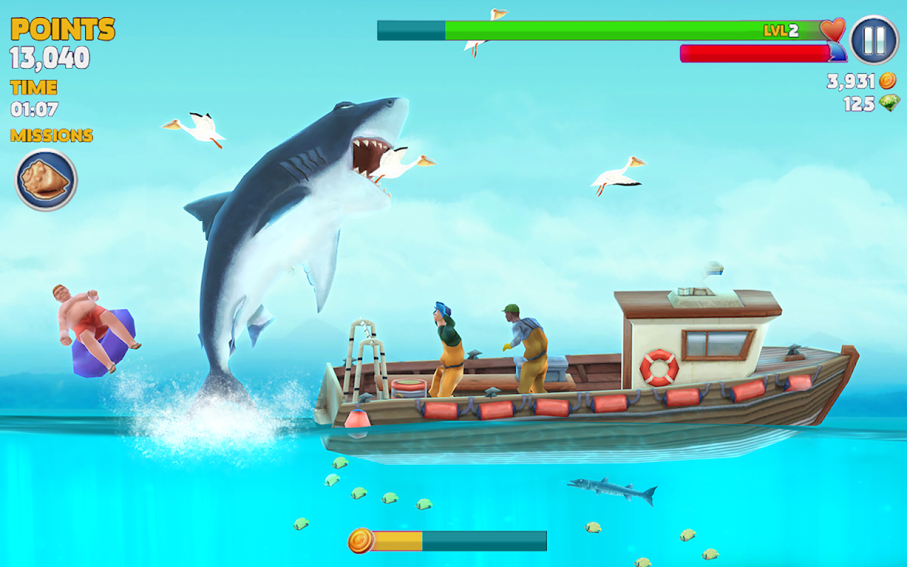Android Hungry Shark Evolution (Mod) Screen 23