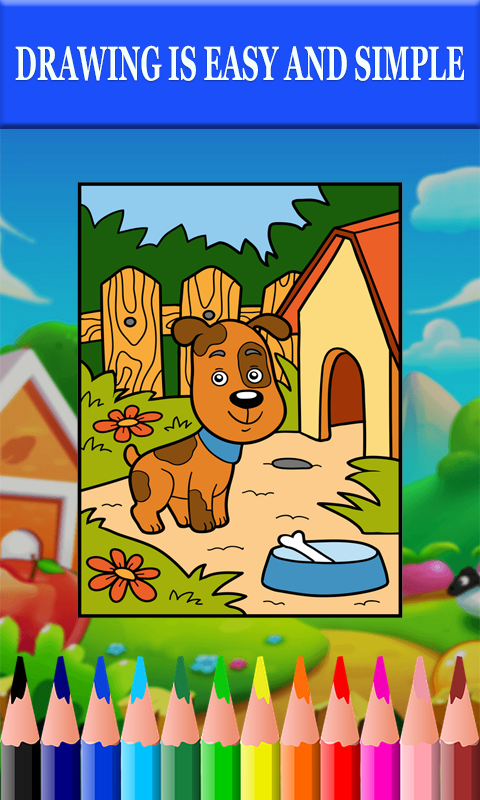 Android Best Coloring Book dogs 2019 Screen 1