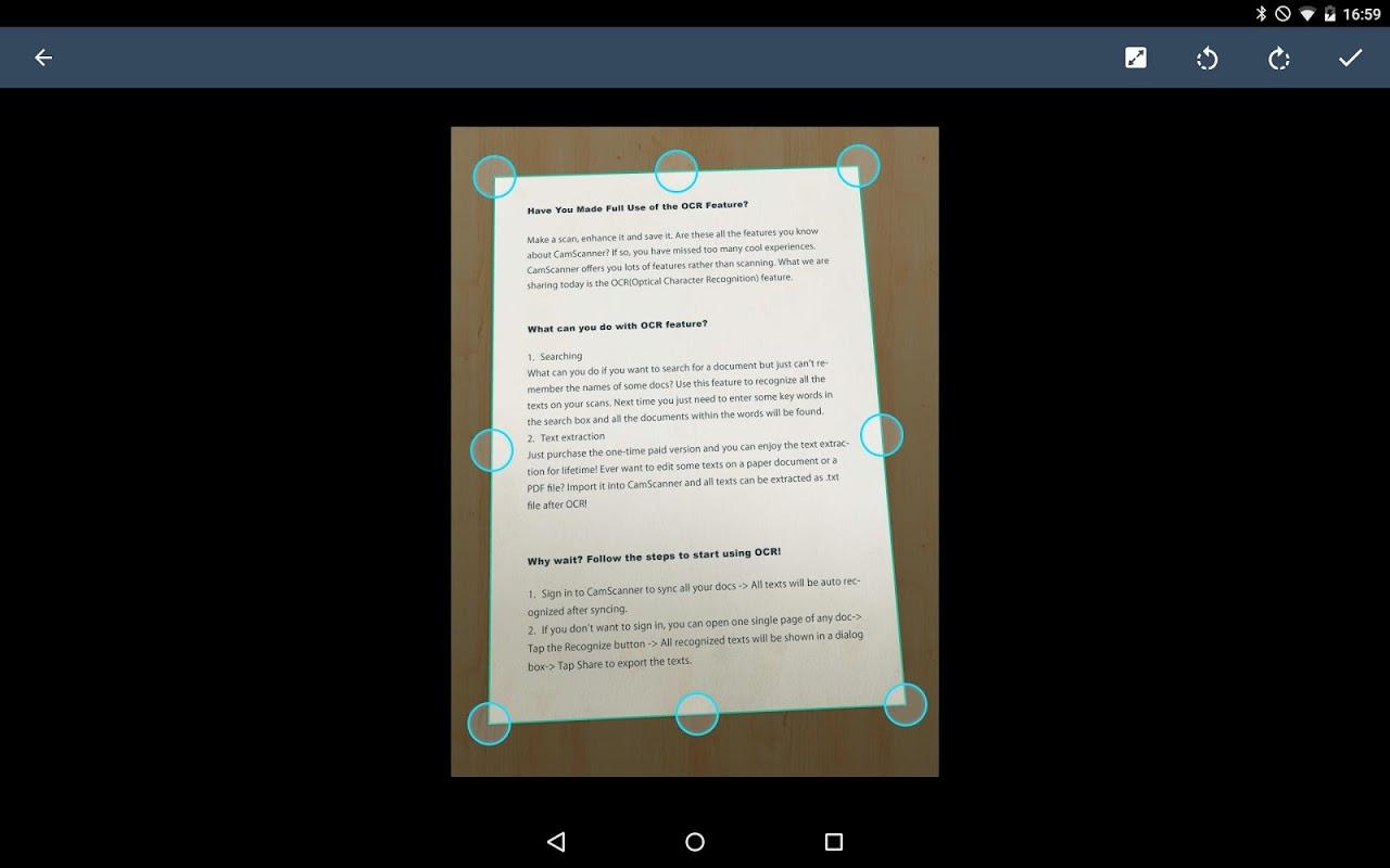Android CamScanner -Phone PDF Creator Screen 6
