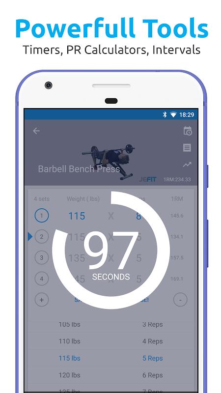 JEFIT Workout Tracker, Weight Lifting, Gym Log App 10.13 Screen 5