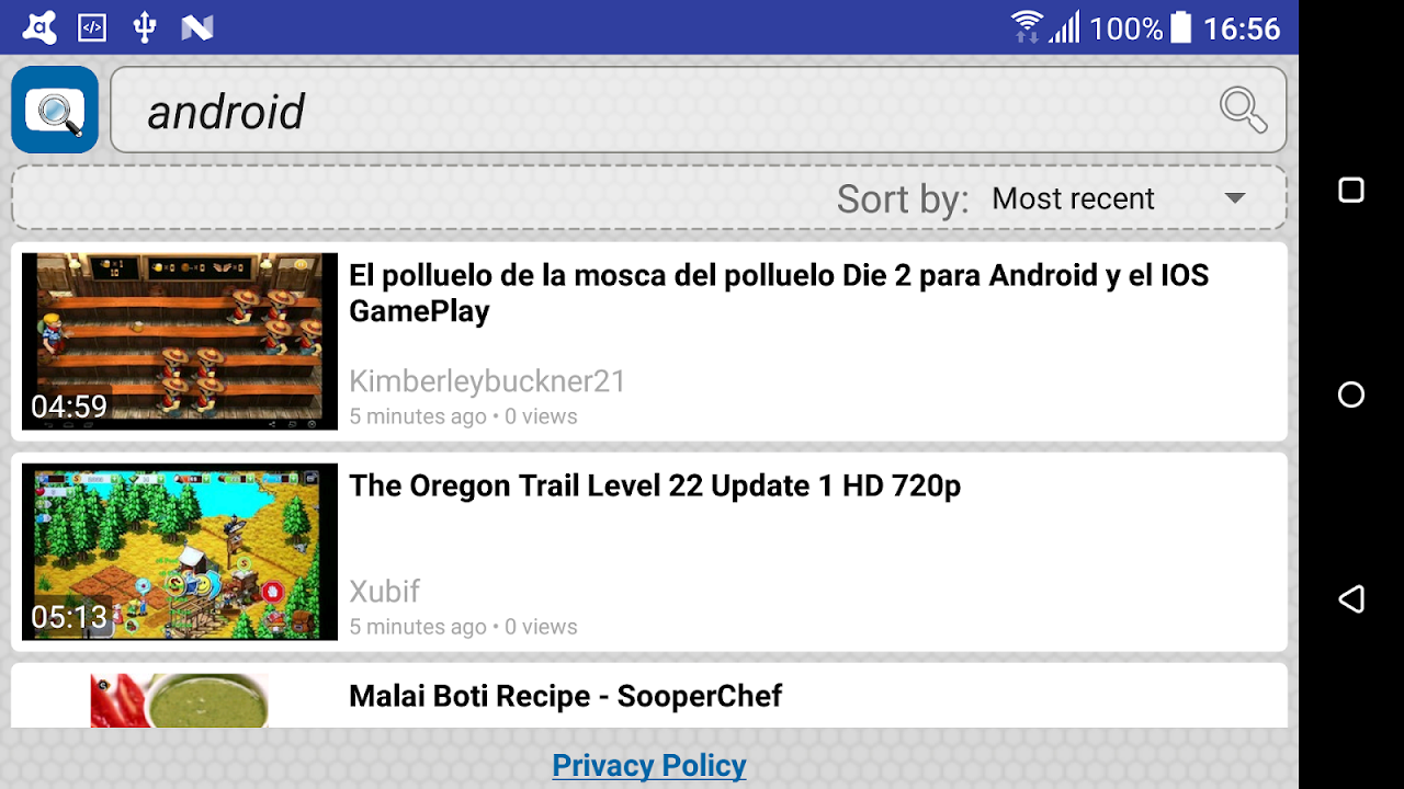 Android Quick Search for Dailymotion Screen 5
