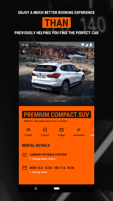 Android Sixt - Rent a Car Screen 2