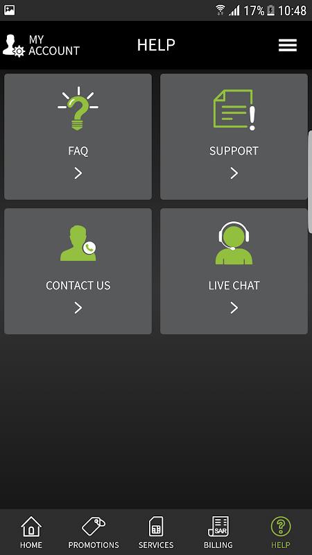 Android Zain SA Screen 2