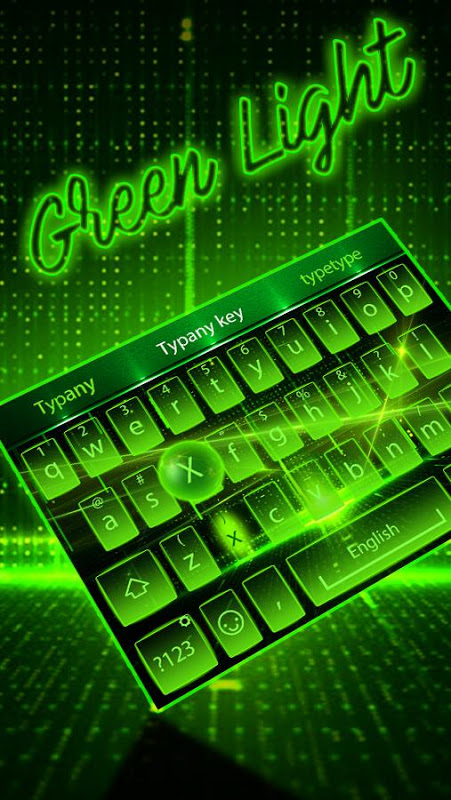 Android Green Light Typany Keyboard Screen 4
