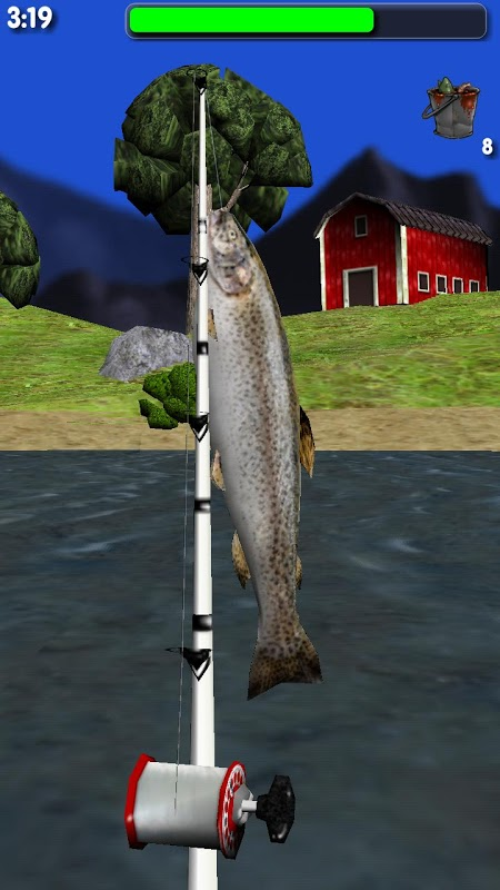 Android Big River Fishing 3D Screen 6