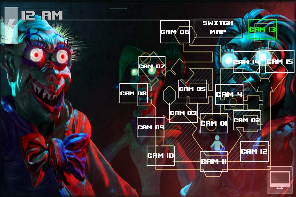 Android Zoolax Nights:Evil Clowns Full Screen 1