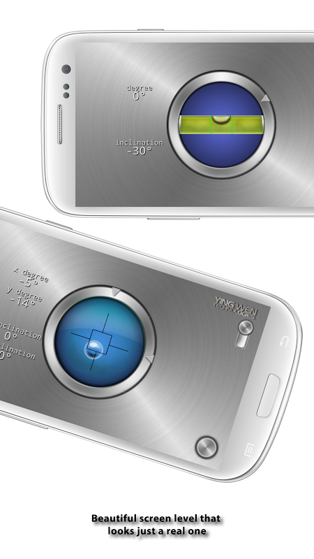 Android Advanced Bubble Level Screen 1