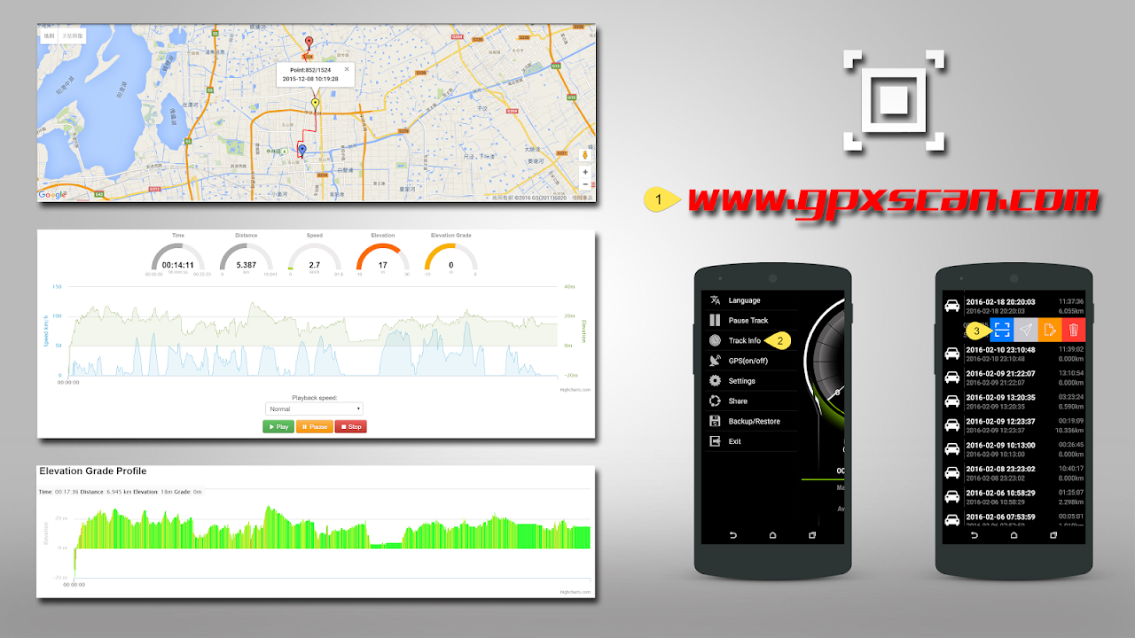 Speed View GPS Pro 1.4.16(googlemap) Screen 1