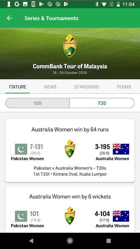 Android Cricket Australia Live Screen 9