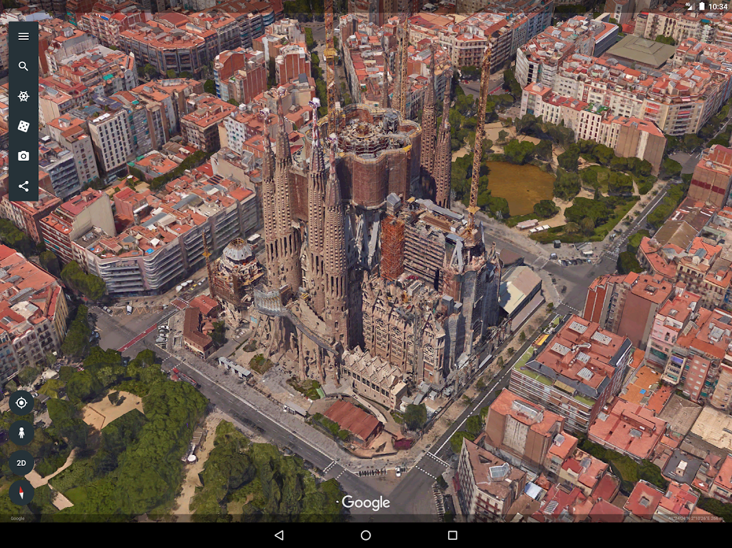 Android Google Earth Screen 7