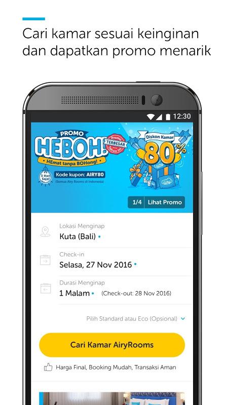 Android Airy Rooms - Kamar Hotel Murah Screen 3