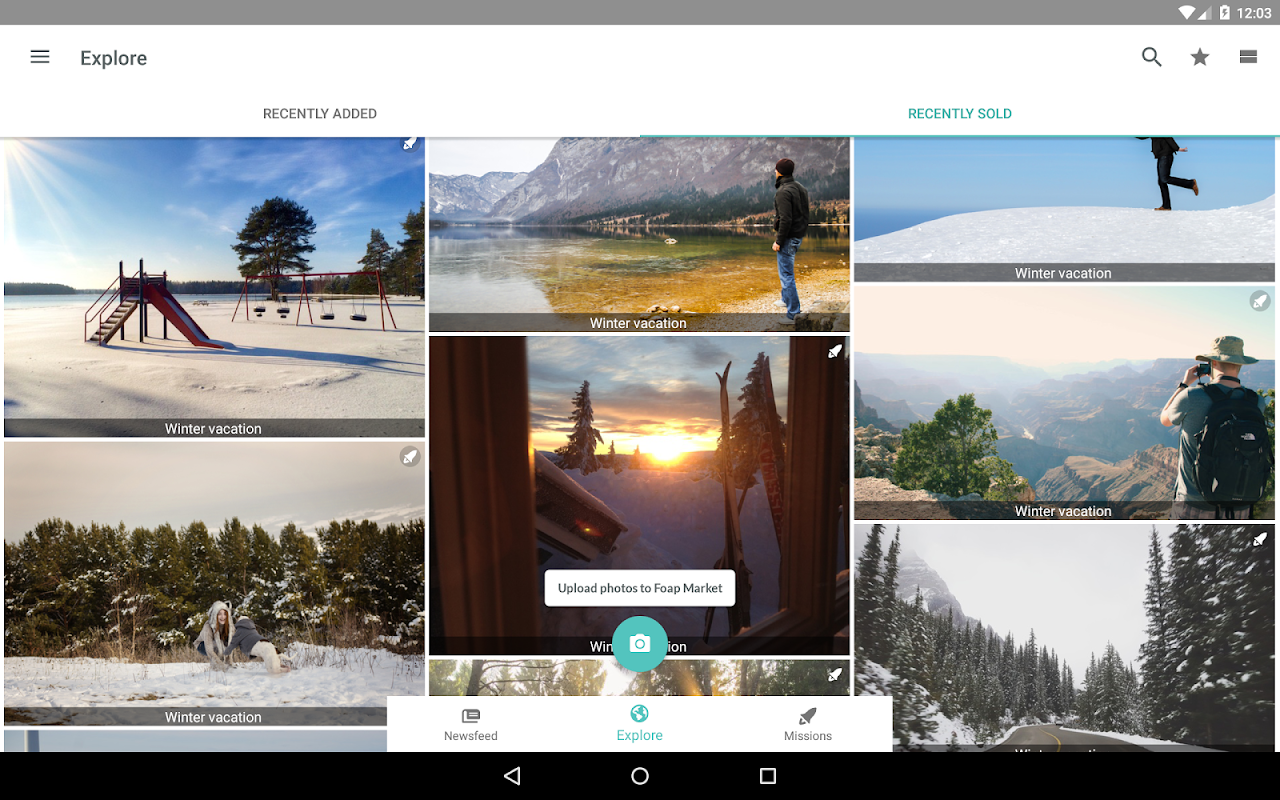 Android Foap - sell your photos Screen 11