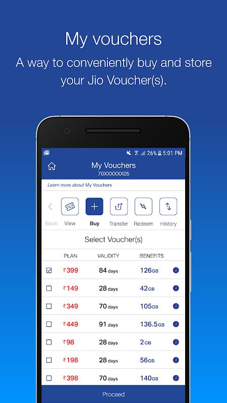 Android MyJio Screen 3