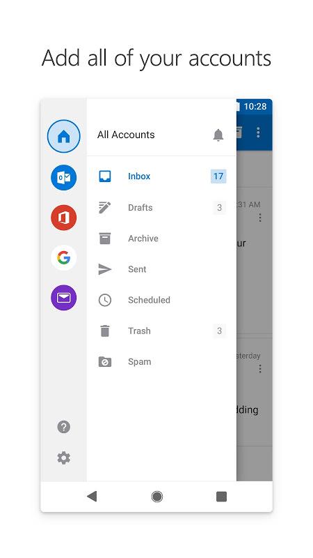 Microsoft Outlook 3.0.128 Screen 4