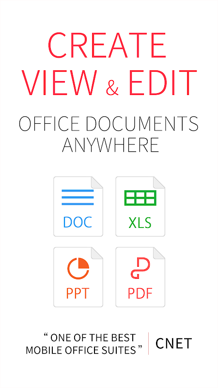 Android WPS Office + PDF Screen 1