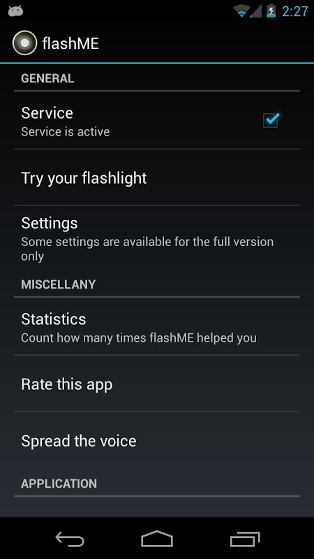 flashME 1.5.3.0 Screen 2