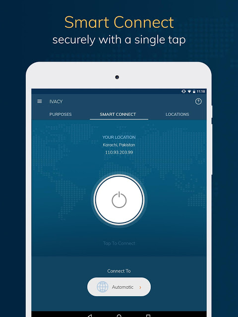 Android Ivacy VPN - Best Fast VPN Screen 5