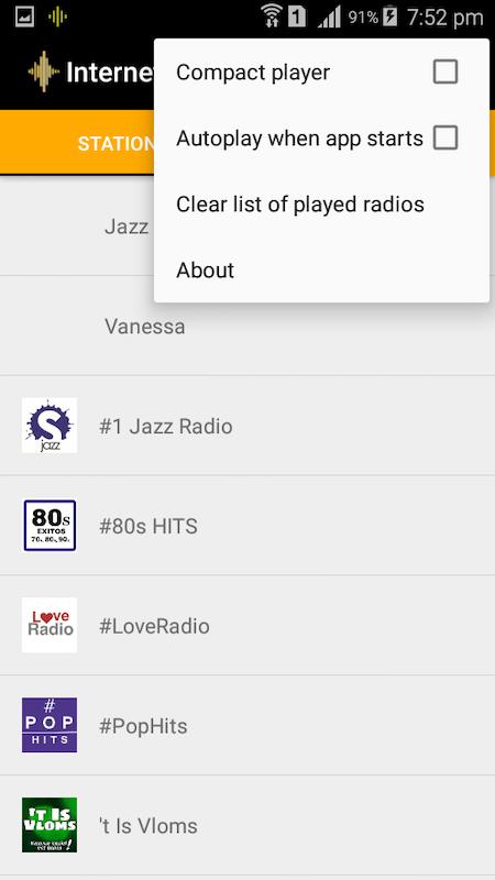 Android FM Radio Stream Screen 2
