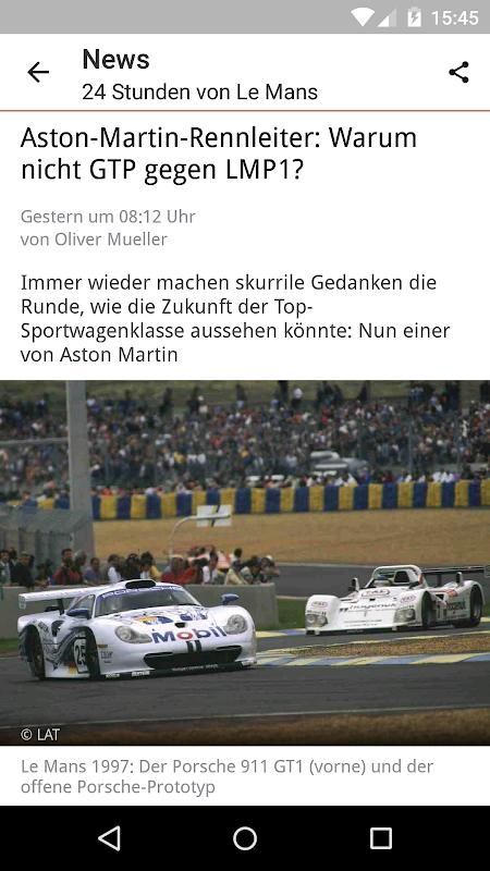 Android Motorsport-Total.com Screen 1