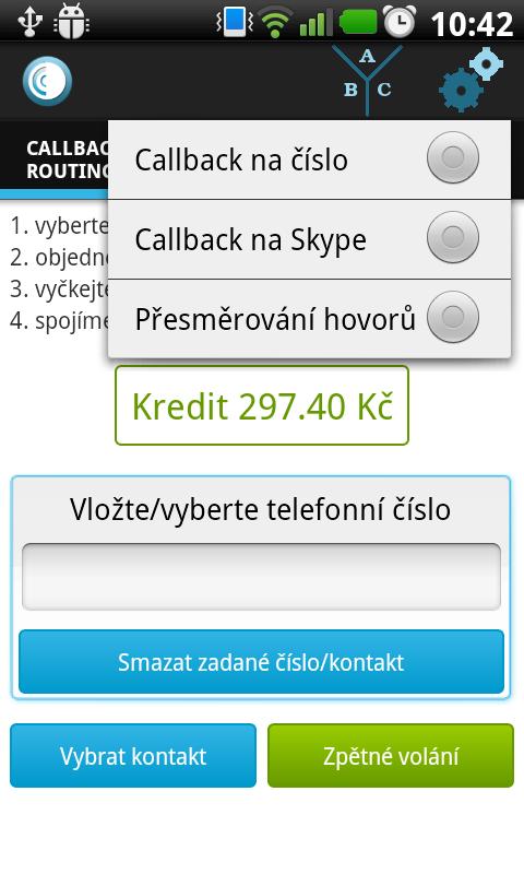 Android Odorik callback Screen 4