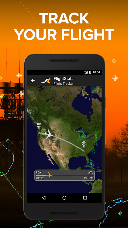 Android FlightStats Screen 1