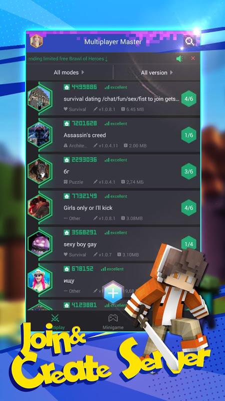 Multiplayer for Minecraft PE - MCPE Servers 1.2.102 Screen 1