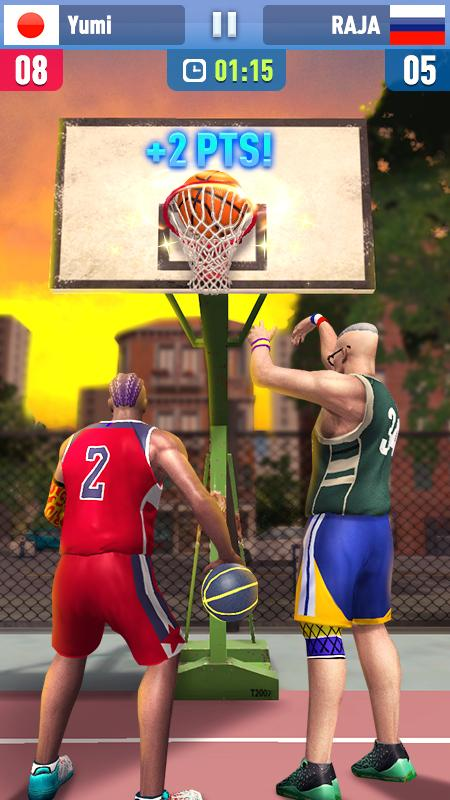 Android Basketball Shoot 3D Screen 2