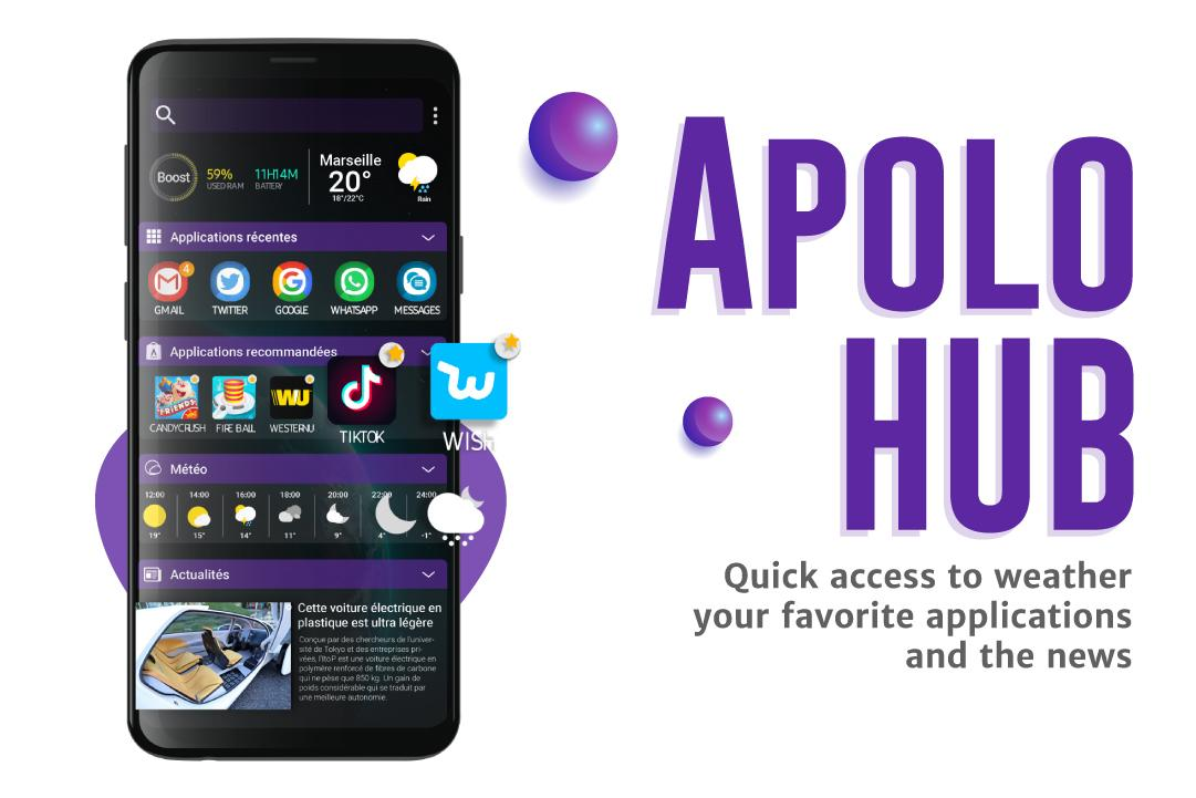 Android Apolo Launcher: Boost, theme, wallpaper, hide apps Screen 7