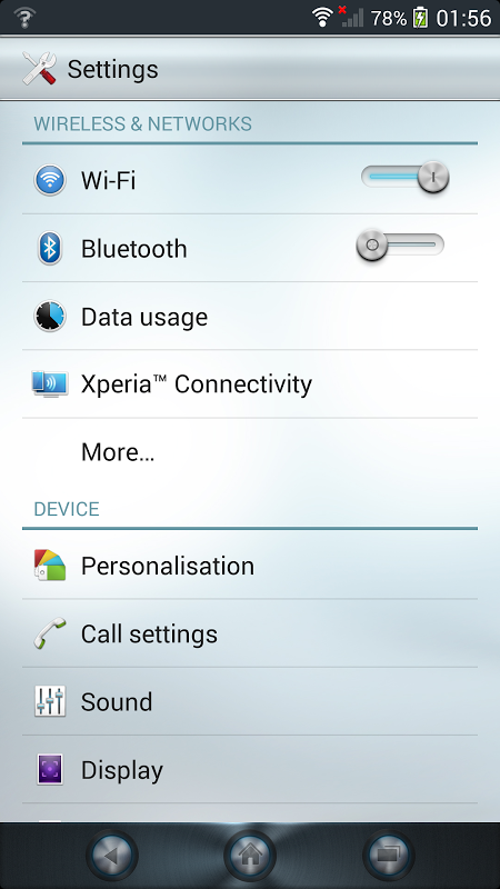 Android Xperia™ theme - Reality Screen 8