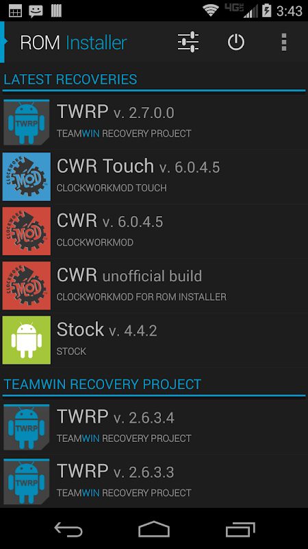 Android ROM Installer Screen 2