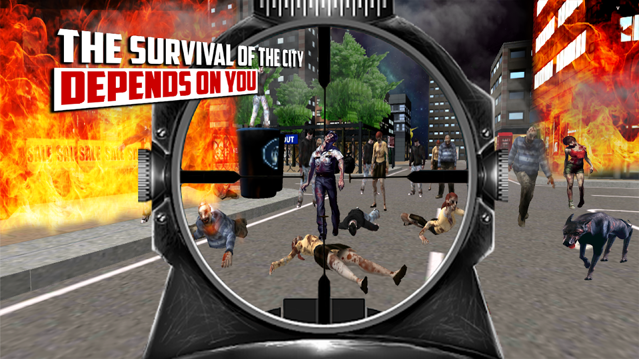 Android City Hunter 3D Zombie Killer Screen 1