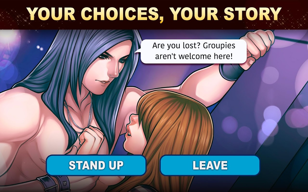 Android Is-it Love? Colin: Choose your story - Love & Rock Screen 1