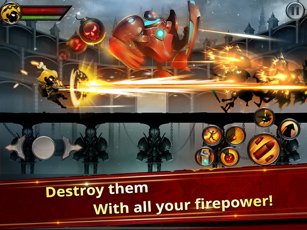 Android Stickman Legends - Ninja Warriors: Shadow War Screen 1