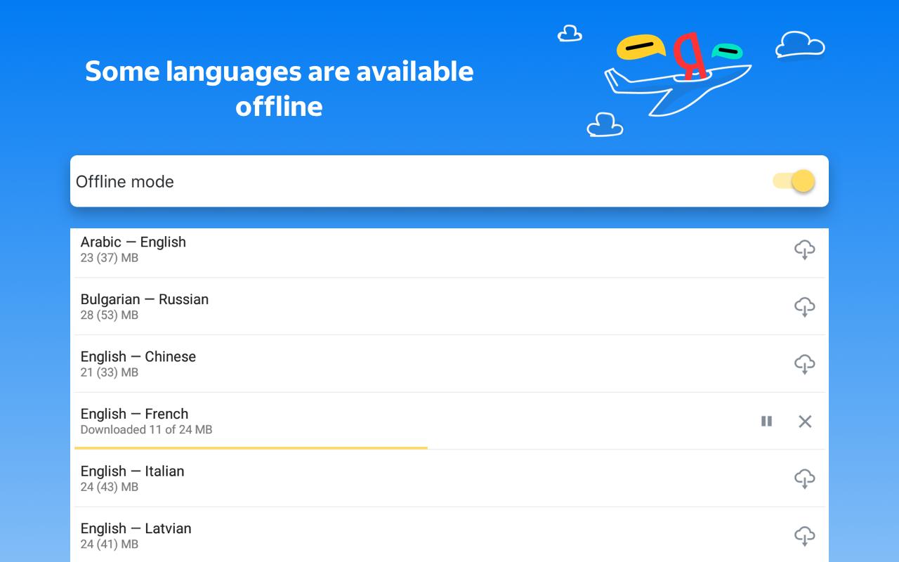 Yandex.Translate – offline translator & dictionary 19.1.1 Screen 18
