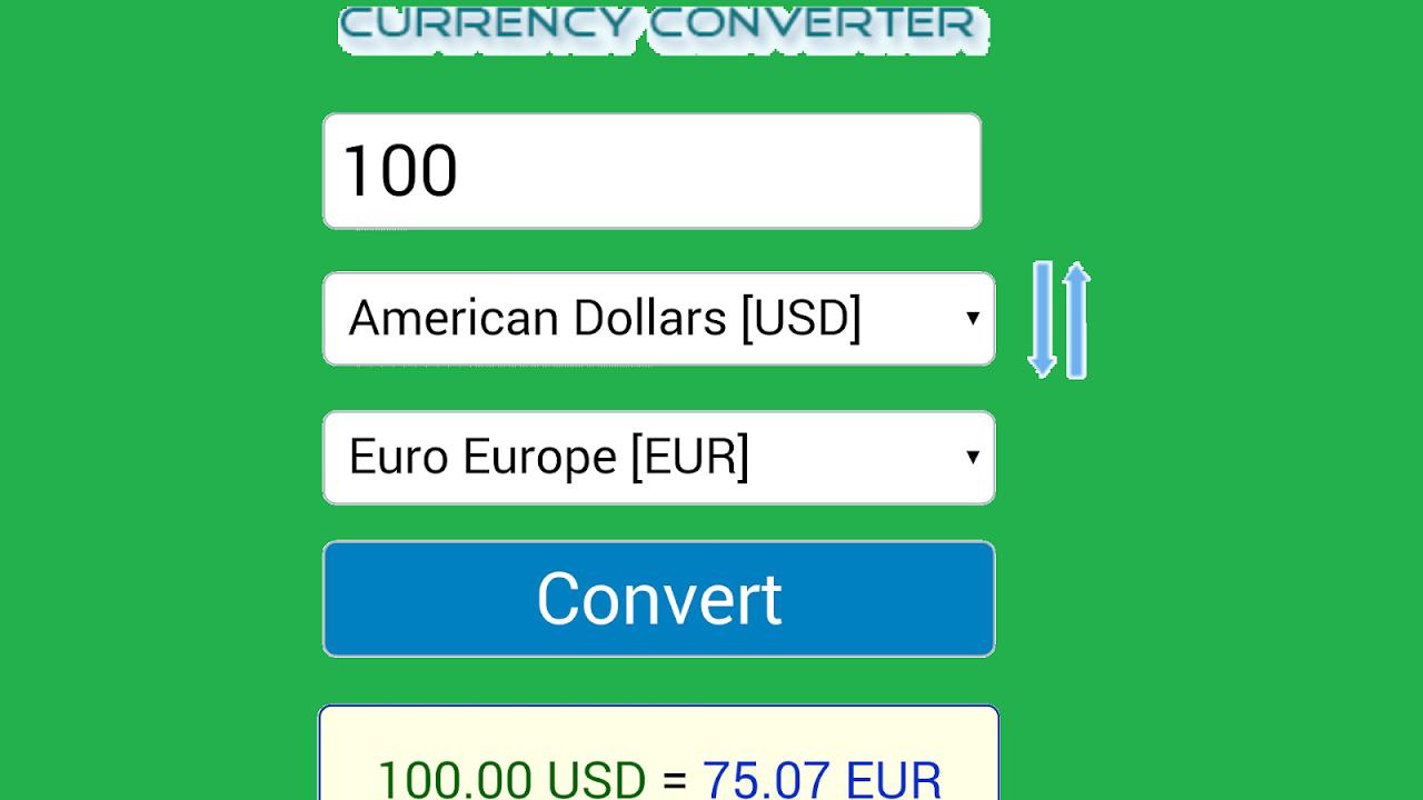 Android Conversor Monedas Screen 2