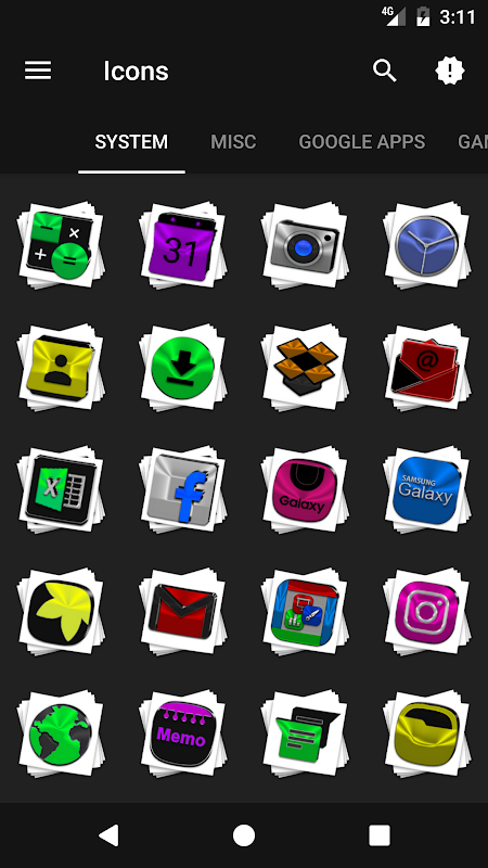 Android Stacks Icon Pack v4.2 Screen 4