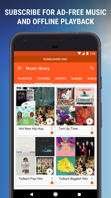 Android Google Play Music Screen 4