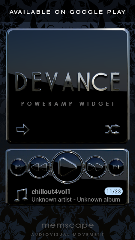 DEVANCE Poweramp skin 3.08 Screen 3