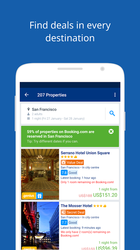 Android Booking.com Hotel Reservations Screen 11