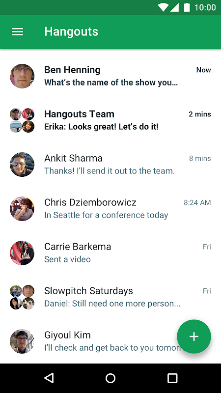 Android Hangouts Screen 5