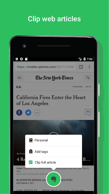 Android Evernote - stay organized. Screen 3
