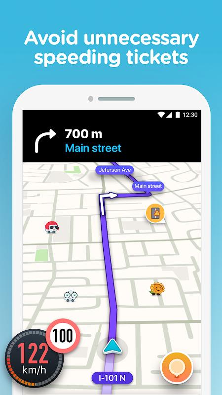 Waze - GPS, Maps, Traffic Alerts & Sat Nav 4.48.0.4 Screen 2